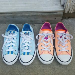 Girl's Converse All Star lot of 2 pairs sneakers
